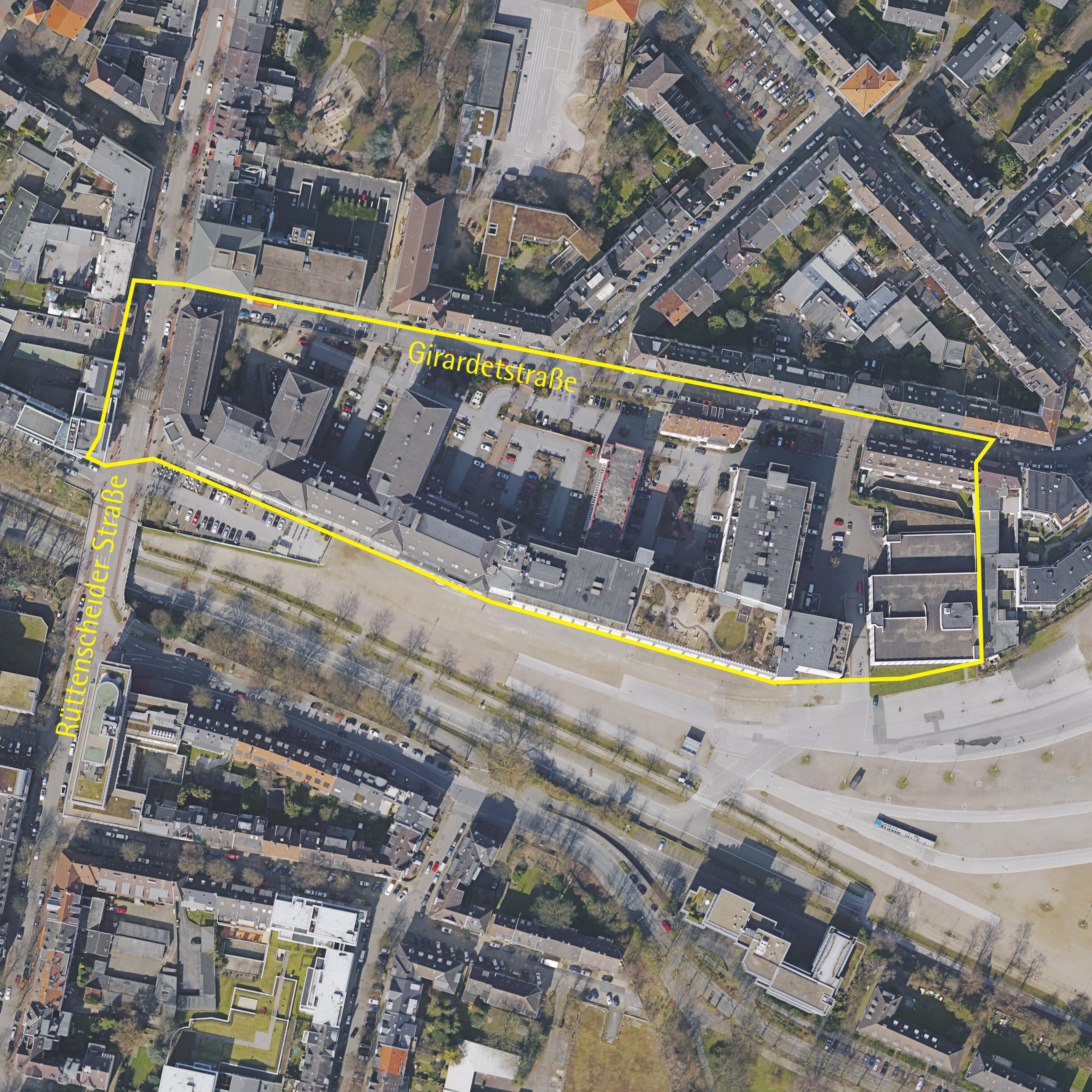 Luftbild: Girardetstraße