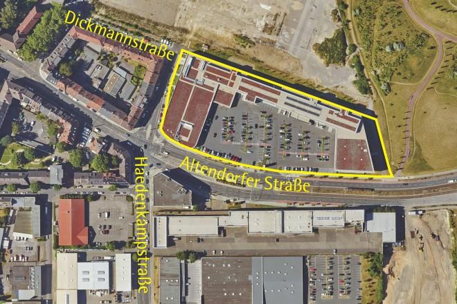 Luftbild: Krupp-Gürtel: Altendorfer Straße/Dickmannstraße 1. Änderung