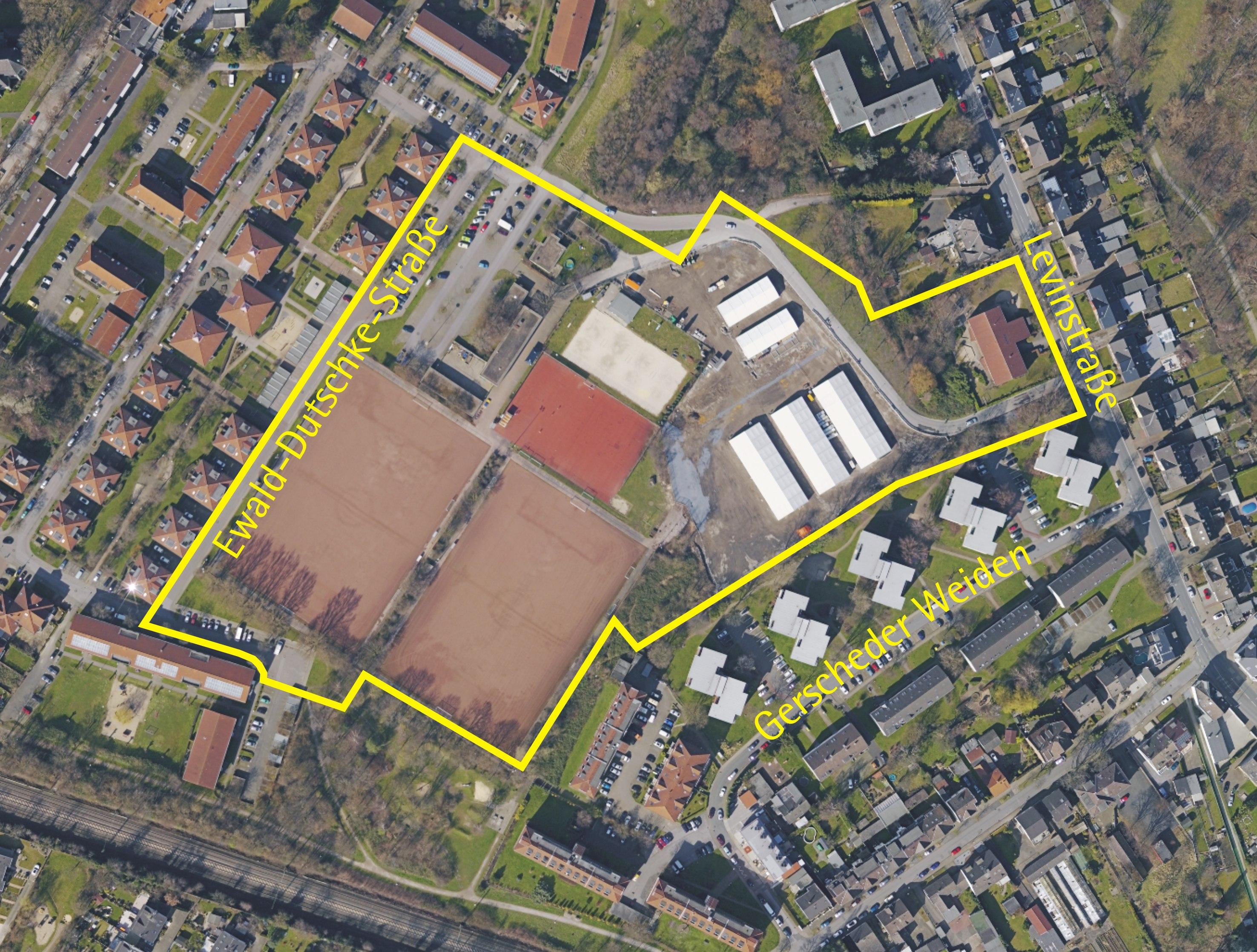 Luftbild: Levinstrasse/Ewald-Dutschke-Strasse
