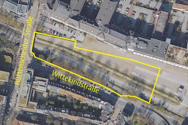 Luftbild: Rüttenscheider Straße/Wittekindstraße
