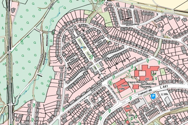 Stadplanansicht: Eyhof-Siedlung