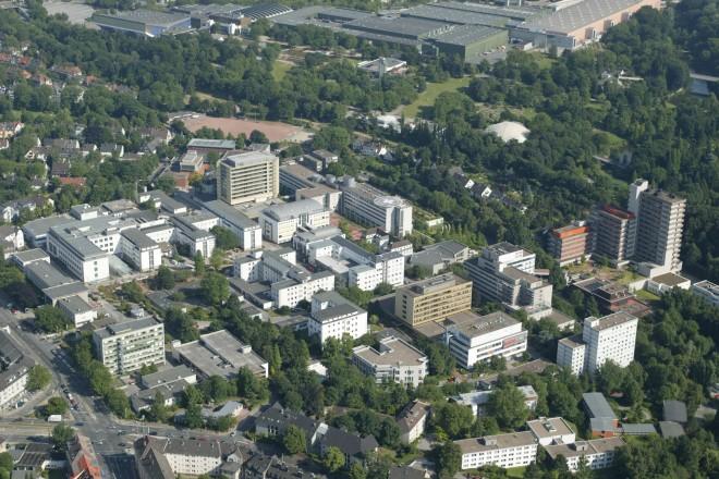 Foto: Luftbild des Universitätsklinikum Essen