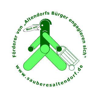 """Logo mit grünem Männchen der Initaitive """"Altendorfs Bürger engagieren sich"""""""