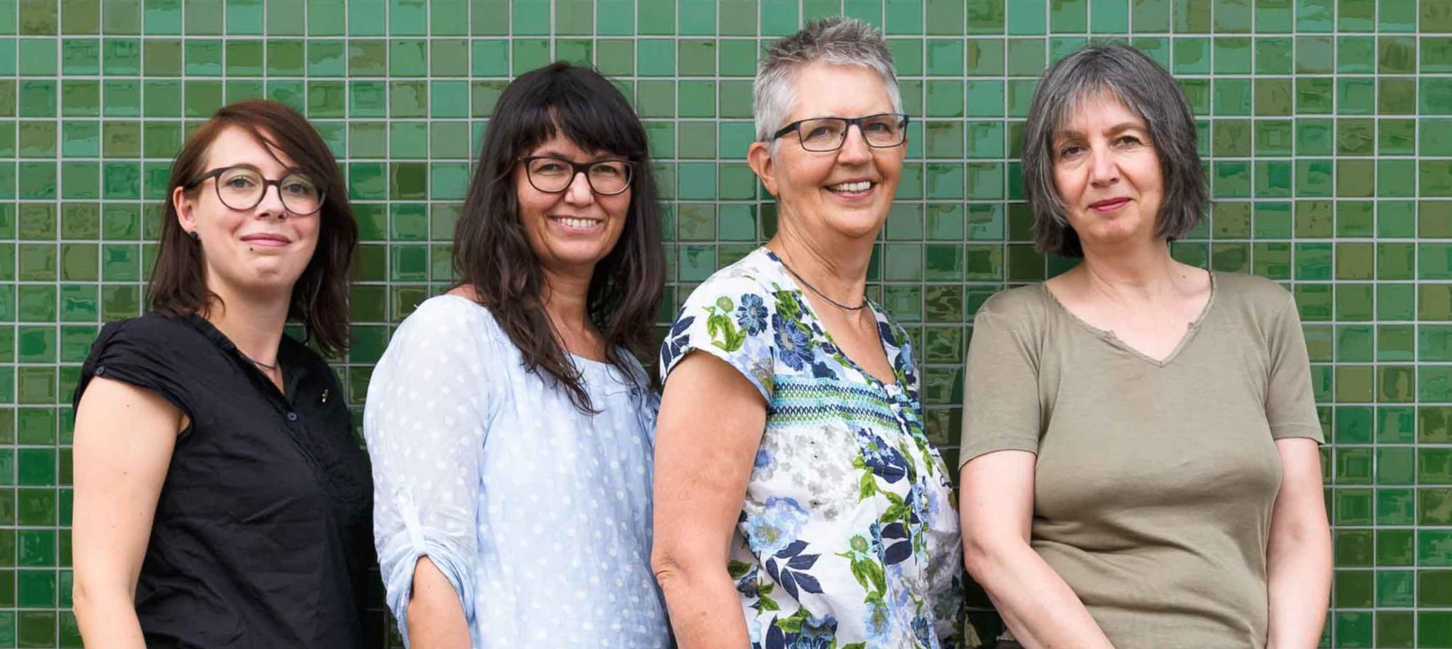 Vier Frauen des Teams Wiese e.V.