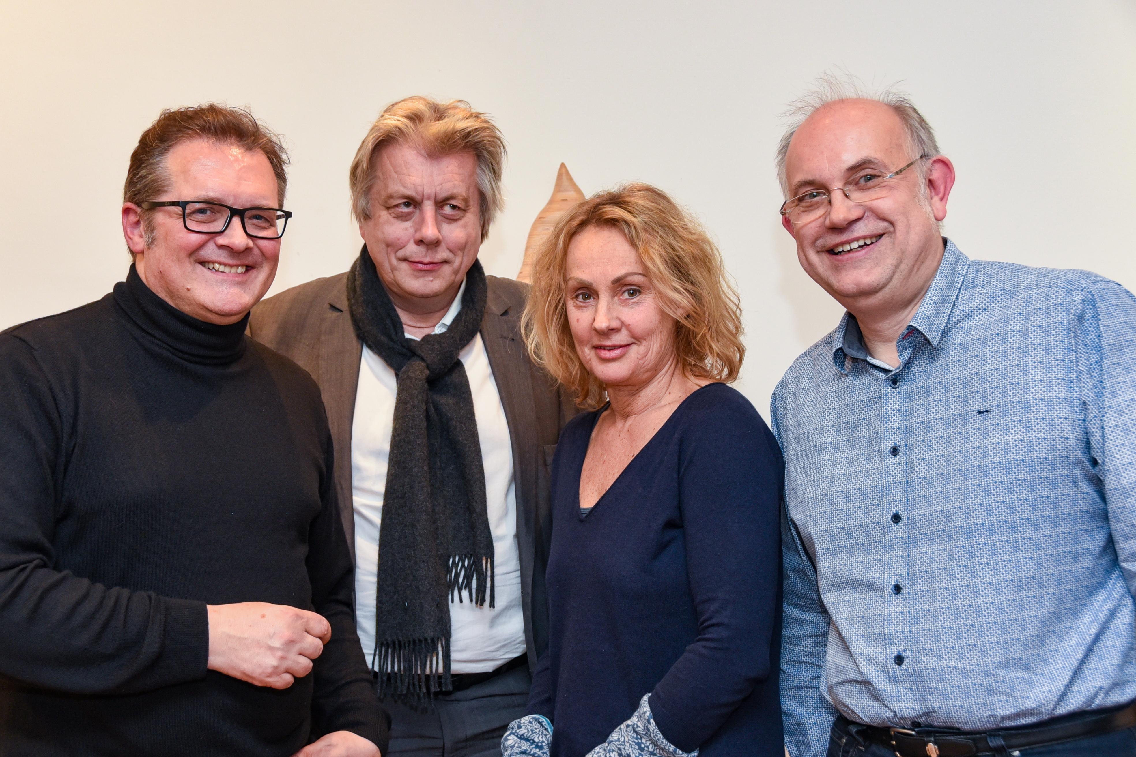 Die vier Vorstandsmitglieder der Kreativen Klasse