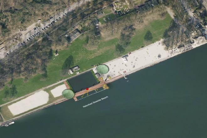 Bild: Badestelle Baldeneysee Aufsicht