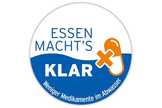 """Logo der Aktion """"Essen macht's klar - Weniger Medikamente im Abwasser"""""""