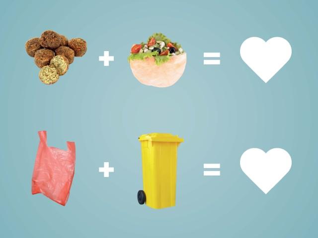 Grafik: Plakatmotiv für die Sensibilisierungskampagne für Essen bleibt sauber