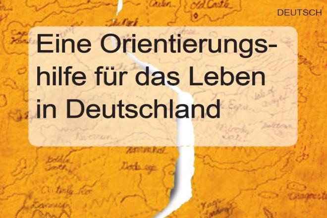 Bild: deutsche Titelseite der Broschüre Refugee Guide