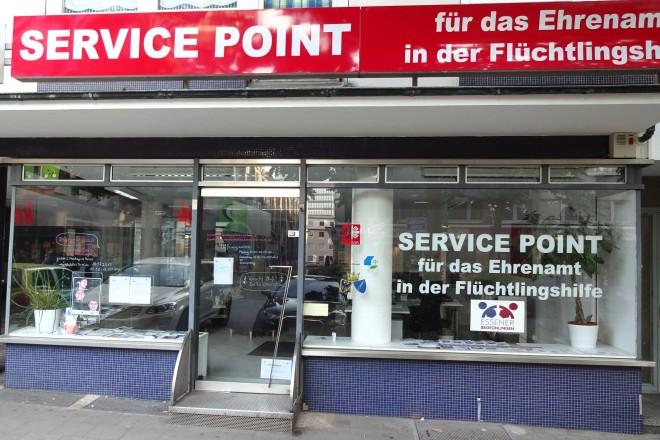 Foto: Ladennlokal Service Point für das Ehrenamt in der Flüchtlingshilfe