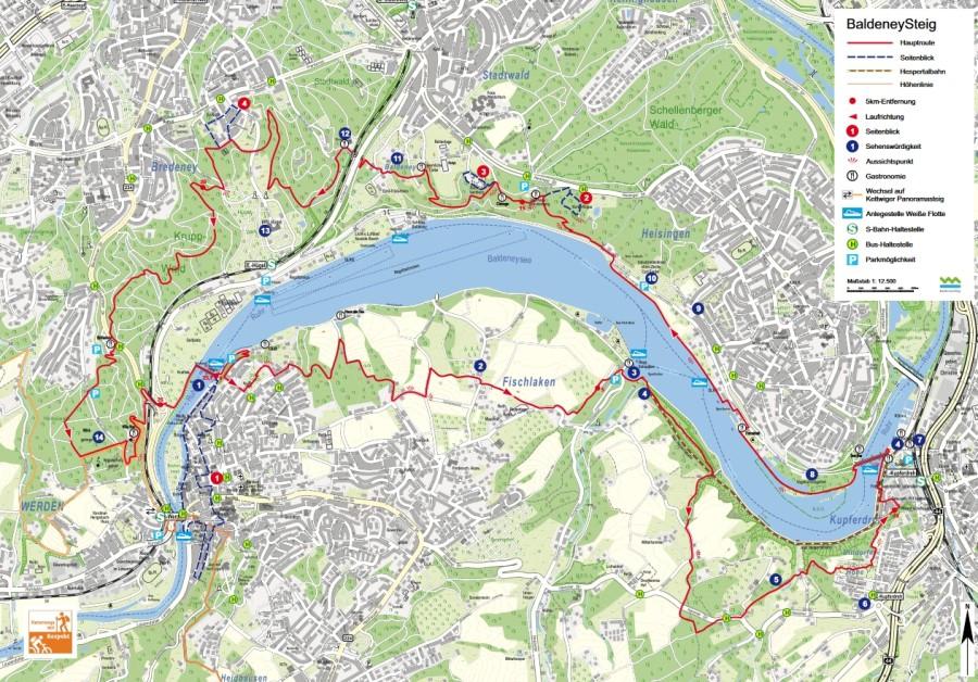 Stadt Essen Karte.Baldeneysteig
