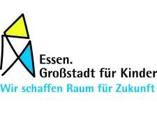 Logo und Schriftzug: Essen Großstadt für Kinder wir schaffen Zukunft