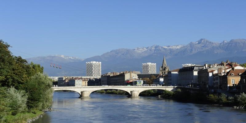 Die Isère in Grenoble