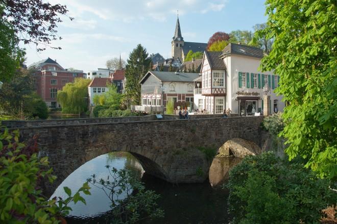 Blick auf Essen-Kettwig, Am Mühlengraben