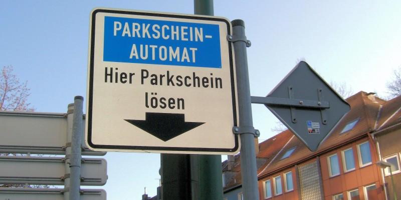 Foto: Schild Parken mit Parkschein