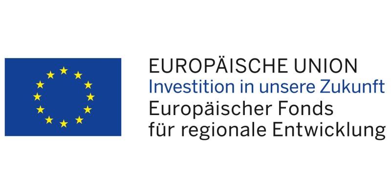 Logo: EU Flagge mit Schriftzug