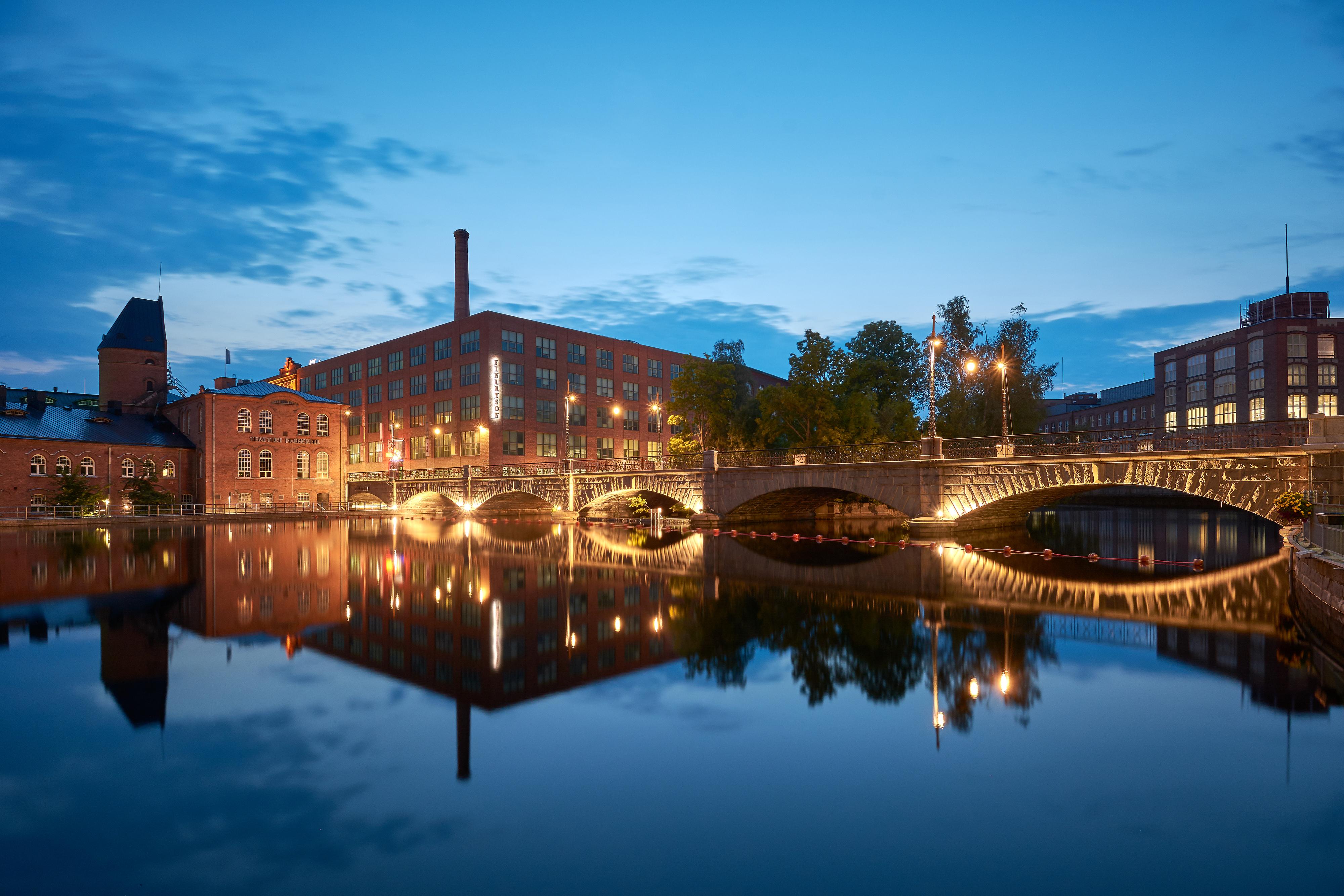 Foto: Tampere bei Nacht
