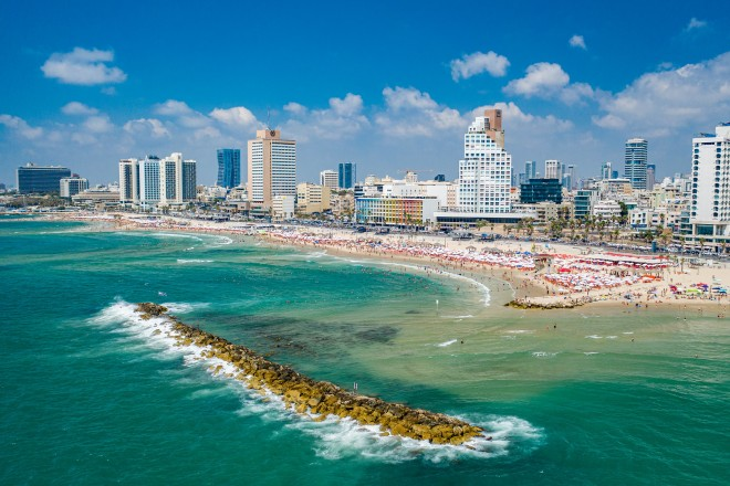 Foto: Strand von Tel Aviv