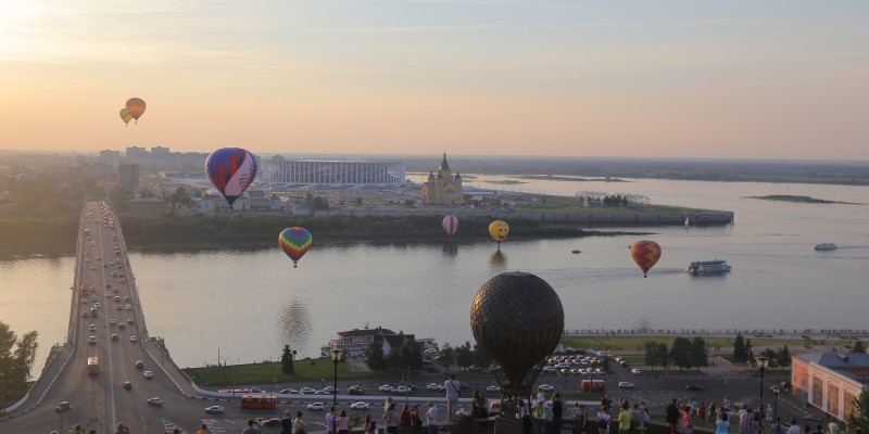 Foto: Blick auf Nischni Nowgorod