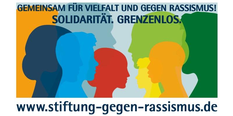 Plakat Internationale Woche gegen Rassismus - Solidariät-Grenzenlos 2021