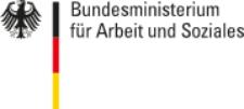 Logo und Schriftzug: BMAS Bundesministerium für Arbeit und Soziales