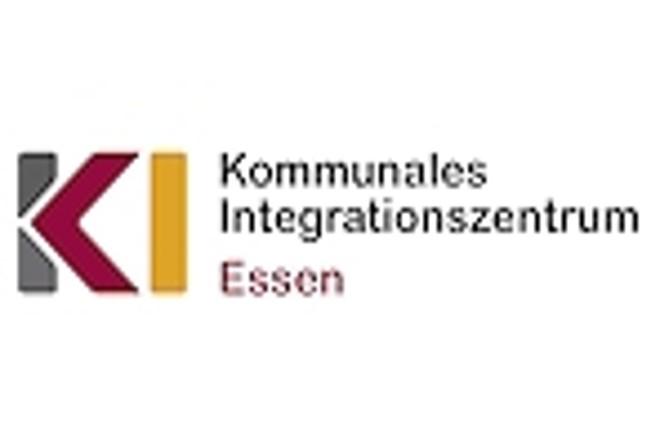 Logo und Schriftzug Kommunales Integrationszentrum Essen