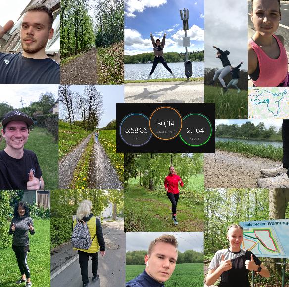 Eine Collage mit Läufer*innen