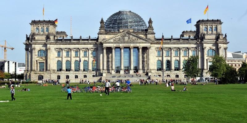 Foto Reichstagsgebäude Deutscher Bundestag