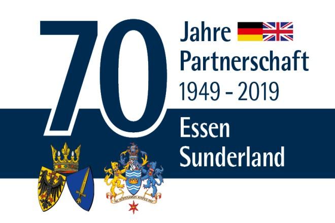 Logo 70 Jahre Städtepartnerschaft Essen - Sunderland
