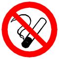 Hinweisschild auf Rauchverbotszonen