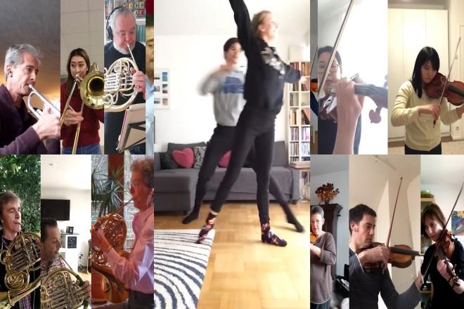 Standbilder mit Personen mit Musikinstrumenten