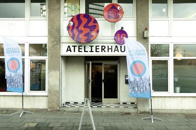Eingang zum Atelierhaus Schützenbahn