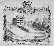 Kupferstich Vue du chateau de Borbeck, 1756