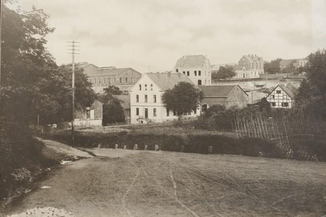 Foto: Historische Ansicht der Rellinghauser Stiftsmühle um 1900