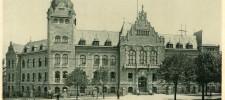 Postkarte: Historisches Verwaltungsgebäude um 1900