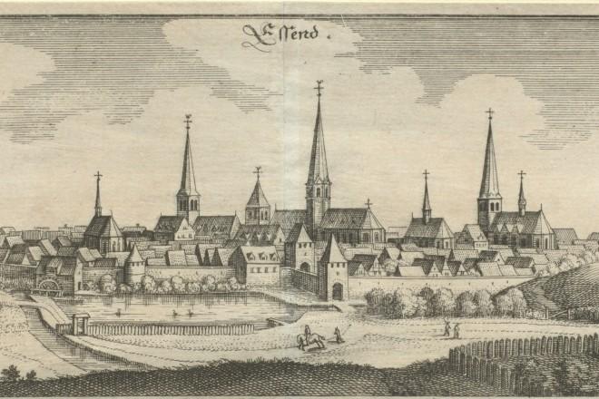Foto: Ansicht der Stadt Essen, aus: Matthäus Merian, Topographia Germaniae