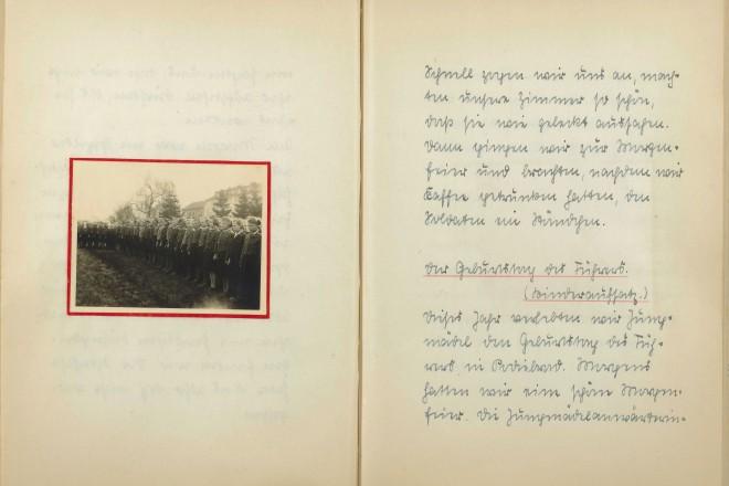 Foto: Auszug aus dem Erinnerungsbuch der Elisabeth Steenbock aus dem KLV-Lager Podiebrad 1941