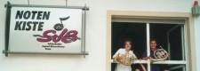 Die Horngruppe des Schönebecker Jugend-Blasorchesters 2005 in ihrem Probenhaus DIE NOTENKISTE