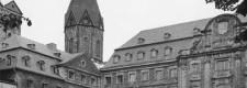 Hauptgebäude der Folkwangschule um 1950 in der ehemaligen Abtei Werden