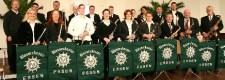 Blasorchester Essen des Polizeisportvereins mit seinem Leiter Erhard Naschinski im Musikpavillon der Gruga 2005