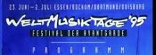 Programmheft der Weltmusiktage 1995