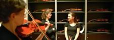 Essener Philharmoniker 2005: vor dem Konzert im Einspielraum