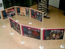 Blick in die Ausstellung ESSEN.MUSIK in der Zentralbibliothek 2005/2006