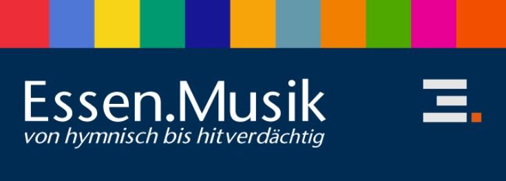 Logo und Schriftzug der Webseiten ESSEN.MUSIK (Idee: Werner Ryschawy, Presse- und Kommunikationsamt, Gestaltung: Detlef Meinicke, Amt für Zentralen Service)
