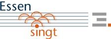 Logo und Schriftzug der Datenbank ESSEN SINGT Idee: Barbara Stuckmann, www.little-bits.de, Gestaltung: Detlef Meinicke, Amt für Zentralen Service)