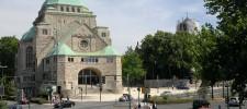 Außenansicht der Alten Synagoge - Haus jüdischer Kultur mit neuer Umfeldgestaltung, 2010