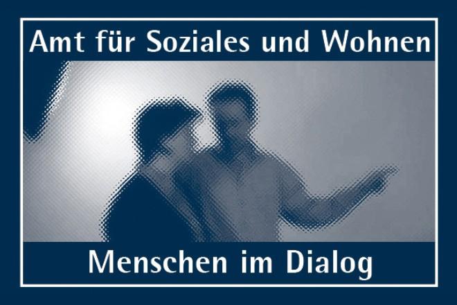 Bild und Schriftzug: Menschen im Dialog