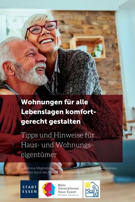"""Screenshot der Broschüre """"Wohnungen für alle Lebenslagen kompfortgerecht gestalten"""""""