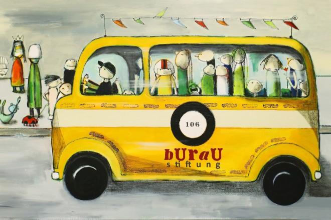 Grafik eines Busses