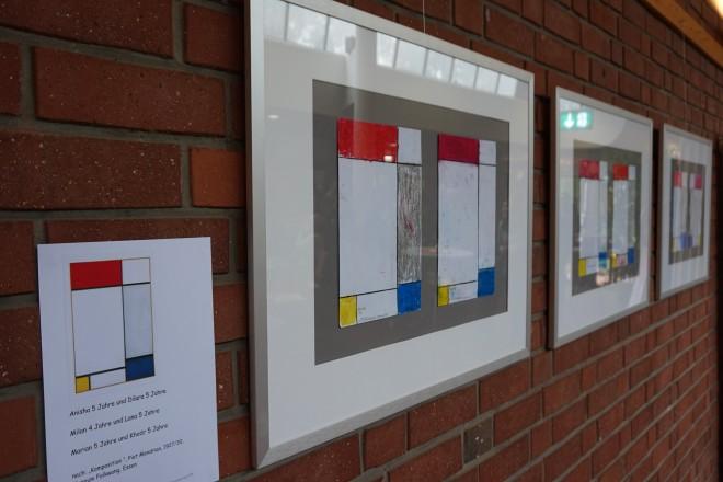 Kinderinterpretationen von Piet Mondrians Werken.